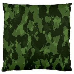 Camouflage Green Army Texture Large Cushion Case (one Side) by Simbadda