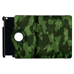 Camouflage Green Army Texture Apple Ipad 3/4 Flip 360 Case by Simbadda