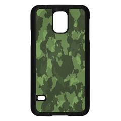 Camouflage Green Army Texture Samsung Galaxy S5 Case (black) by Simbadda