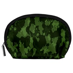 Camouflage Green Army Texture Accessory Pouches (large)  by Simbadda