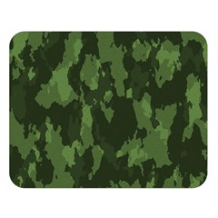 Camouflage Green Army Texture Double Sided Flano Blanket (large)  by Simbadda