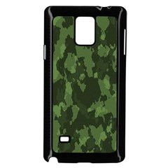 Camouflage Green Army Texture Samsung Galaxy Note 4 Case (black)