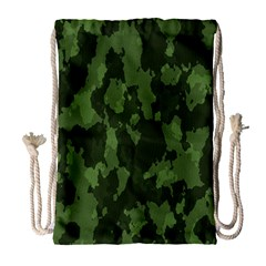 Camouflage Green Army Texture Drawstring Bag (large) by Simbadda