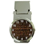 Pixel Pattern Colorful And Glowing Pixelated Money Clip Watches Front