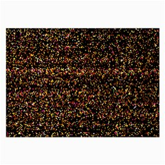 Pixel Pattern Colorful And Glowing Pixelated Large Glasses Cloth by Simbadda