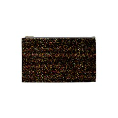 Pixel Pattern Colorful And Glowing Pixelated Cosmetic Bag (small)  by Simbadda