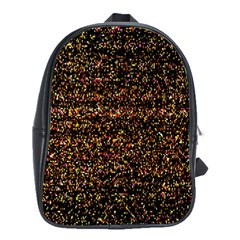 Pixel Pattern Colorful And Glowing Pixelated School Bags(large)  by Simbadda