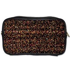 Pixel Pattern Colorful And Glowing Pixelated Toiletries Bags by Simbadda
