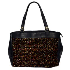 Pixel Pattern Colorful And Glowing Pixelated Office Handbags by Simbadda