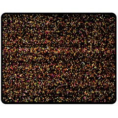 Pixel Pattern Colorful And Glowing Pixelated Fleece Blanket (medium)  by Simbadda