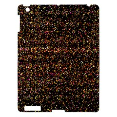 Pixel Pattern Colorful And Glowing Pixelated Apple Ipad 3/4 Hardshell Case by Simbadda