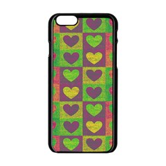 Pattern Apple Iphone 6/6s Black Enamel Case