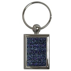 Pixel Colorful And Glowing Pixelated Pattern Key Chains (rectangle)  by Simbadda