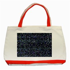 Pixel Colorful And Glowing Pixelated Pattern Classic Tote Bag (red) by Simbadda