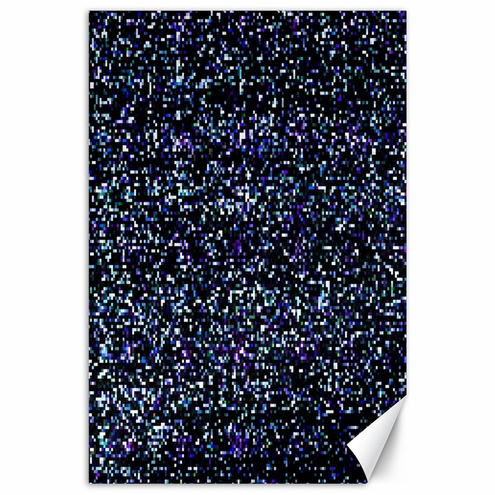 Pixel Colorful And Glowing Pixelated Pattern Canvas 24  x 36