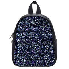 Pixel Colorful And Glowing Pixelated Pattern School Bags (small)  by Simbadda