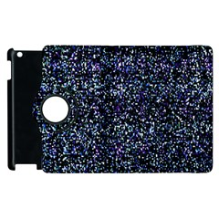 Pixel Colorful And Glowing Pixelated Pattern Apple Ipad 2 Flip 360 Case by Simbadda