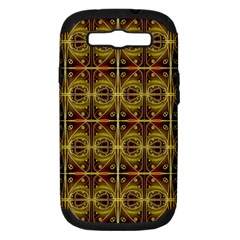 Seamless Symmetry Pattern Samsung Galaxy S Iii Hardshell Case (pc+silicone) by Simbadda