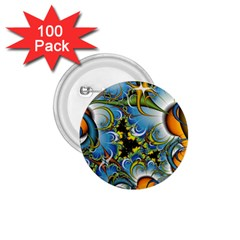 Fractal Background With Abstract Streak Shape 1 75  Buttons (100 Pack)  by Simbadda