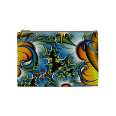 Fractal Background With Abstract Streak Shape Cosmetic Bag (medium)  by Simbadda