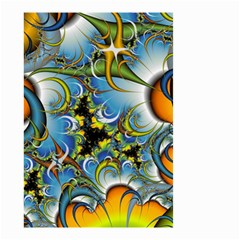 Fractal Background With Abstract Streak Shape Small Garden Flag (two Sides) by Simbadda