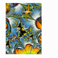 Fractal Background With Abstract Streak Shape Large Garden Flag (two Sides)