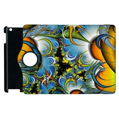 Fractal Background With Abstract Streak Shape Apple Ipad 2 Flip 360 Case by Simbadda