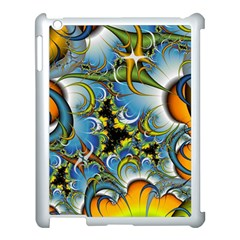 Fractal Background With Abstract Streak Shape Apple Ipad 3/4 Case (white) by Simbadda
