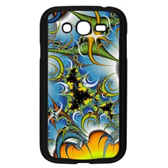 Fractal Background With Abstract Streak Shape Samsung Galaxy Grand Duos I9082 Case (black) by Simbadda