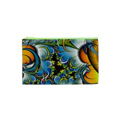 Fractal Background With Abstract Streak Shape Cosmetic Bag (xs)