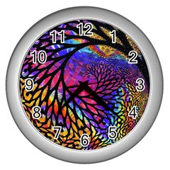 3d Fractal Mandelbulb Wall Clocks (silver)  by Simbadda