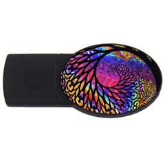3d Fractal Mandelbulb Usb Flash Drive Oval (4 Gb) by Simbadda