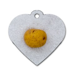 Hintergrund Salzkartoffel Dog Tag Heart (one Side) by wsfcow