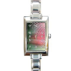 Watermelon Dream Rectangle Italian Charm Watch