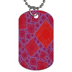 Voronoi Diagram Dog Tag (one Side) by Simbadda