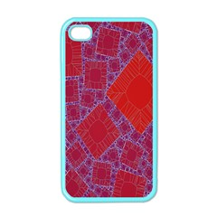 Voronoi Diagram Apple Iphone 4 Case (color) by Simbadda