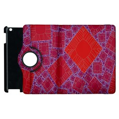 Voronoi Diagram Apple Ipad 3/4 Flip 360 Case by Simbadda