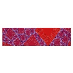 Voronoi Diagram Satin Scarf (oblong)