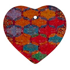 Abstract Art Pattern Heart Ornament (two Sides)