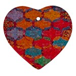 Abstract Art Pattern Heart Ornament (Two Sides) Back