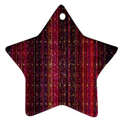 Colorful And Glowing Pixelated Pixel Pattern Ornament (star) by Simbadda
