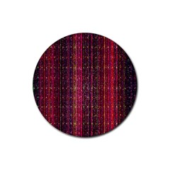 Colorful And Glowing Pixelated Pixel Pattern Rubber Round Coaster (4 Pack)