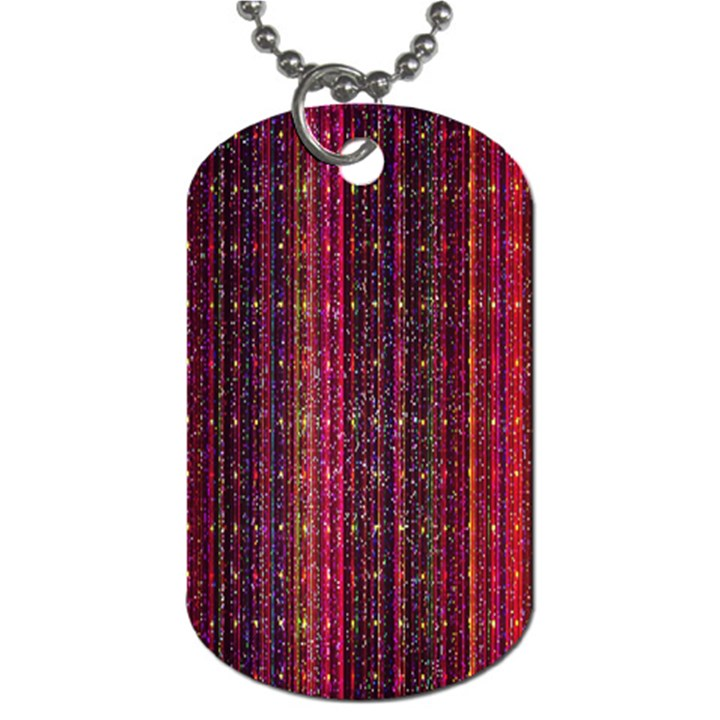 Colorful And Glowing Pixelated Pixel Pattern Dog Tag (Two Sides)