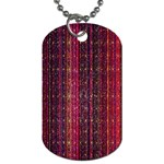 Colorful And Glowing Pixelated Pixel Pattern Dog Tag (Two Sides) Back