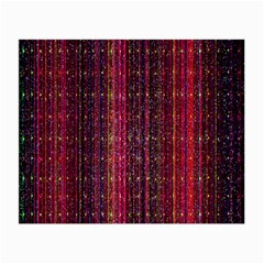 Colorful And Glowing Pixelated Pixel Pattern Small Glasses Cloth by Simbadda