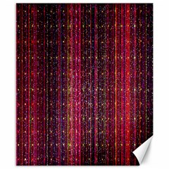 Colorful And Glowing Pixelated Pixel Pattern Canvas 8  X 10  by Simbadda