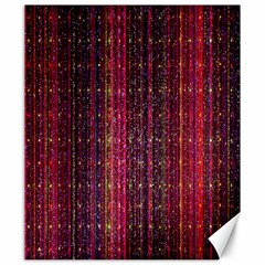 Colorful And Glowing Pixelated Pixel Pattern Canvas 20  X 24   by Simbadda