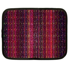 Colorful And Glowing Pixelated Pixel Pattern Netbook Case (large) by Simbadda