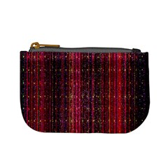 Colorful And Glowing Pixelated Pixel Pattern Mini Coin Purses by Simbadda