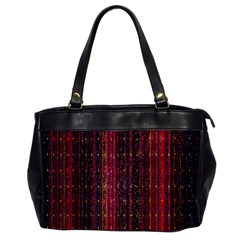 Colorful And Glowing Pixelated Pixel Pattern Office Handbags by Simbadda